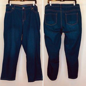 Avenue Jeans 5 Pocket Straight Leg Knit Denim  18